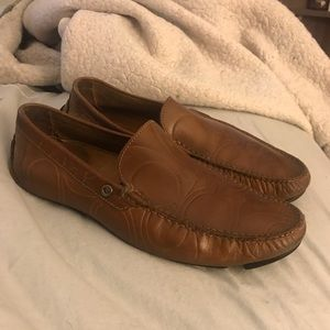 bb2762f9801 Coach driver loafer brown leather beautiful slide